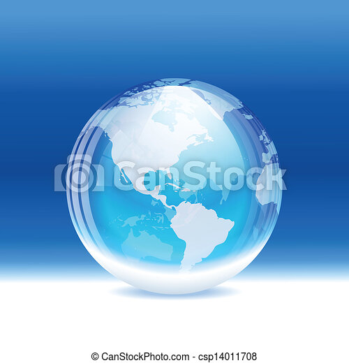 Snow globe with map a vector illustration of a transparent snow globe with map csp14011708 gumiabroncs Choice Image