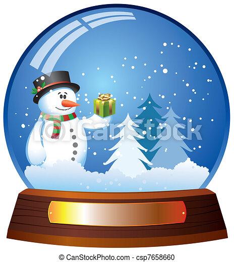 Snow Globe With Snowman Csp7658660