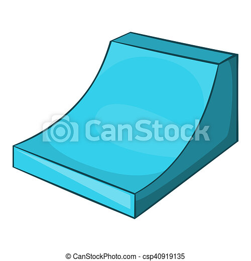 snow half pipe for freestyle icon cartoon style snow half pipe for rh canstockphoto ie snow scene background clipart
