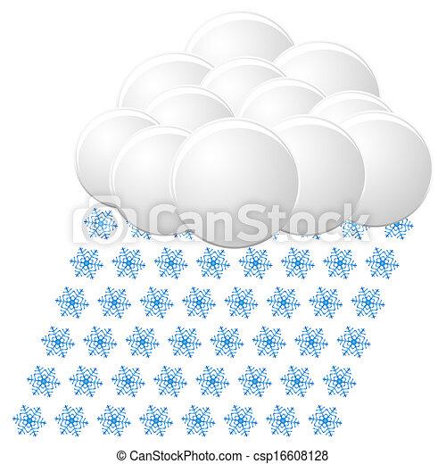 snow icon. vector - csp16608128