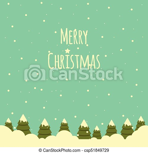 Christmas Trees Background Clipart.Snow Landscape With Christmas Trees Background