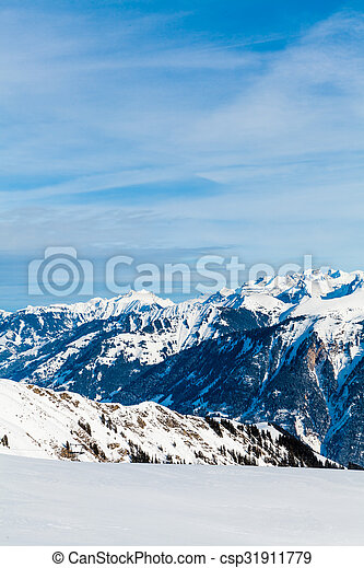 Snow Mountain. Alps Alpine Landscape of Mountain - csp31911779