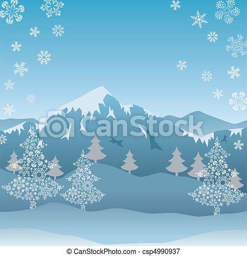 Snow mountain - csp4990937