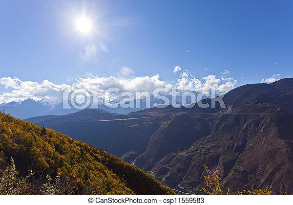 Snow mountain landscape  - csp11559583