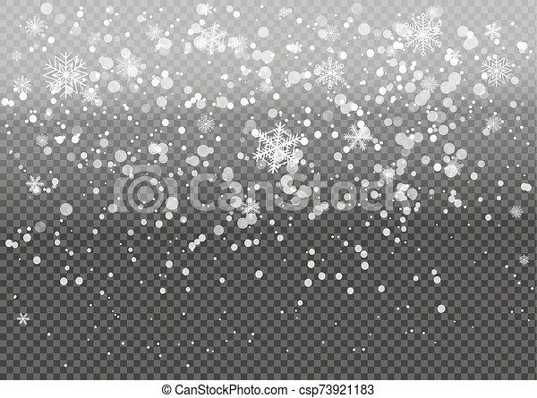 snow., navidad, caer - csp73921183