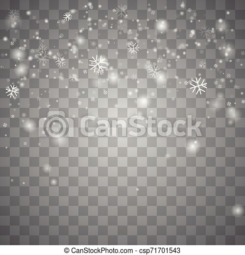 Nieve navideña. - csp71701543