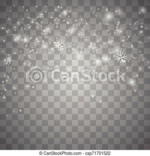 Nieve navideña. - csp71701522