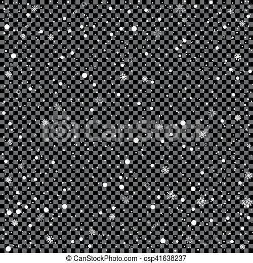 Snow On Transparent Background Christmas And Winter Clipart The Falling White Snow On Transparent Dark Background Easy To Canstock
