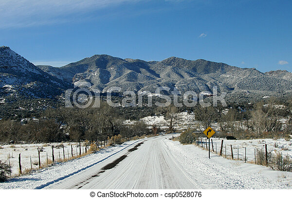 Snow-packed Roads - csp0528076