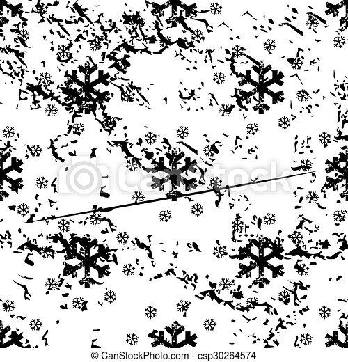 Snow pattern, grunge, monochrome - csp30264574