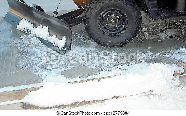 Snow plow. - csp12773884