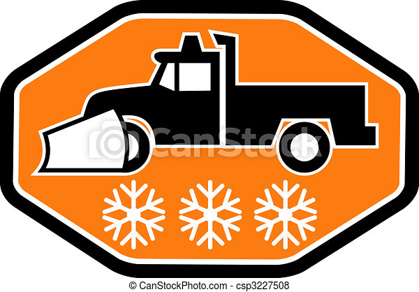 snow plow truck with snowflake in background inside heaxagon rh canstockphoto com plowing snow clipart snow removal clip art