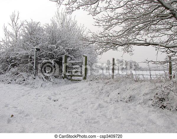 Snow scene - csp3409720