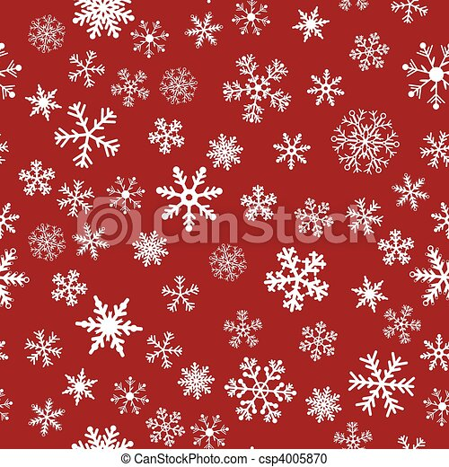 Snow Seamless Red Vector Background - csp4005870