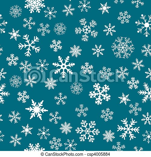 Snow Seamless Vector Background - csp4005884