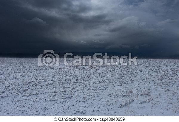 Snow storm - csp43040659