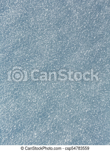 Snow surface with crystalline snowflake - csp54783559