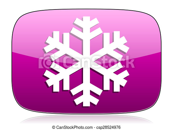 snow violet icon air conditioning sign - csp28524976