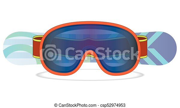 snowboard and goggles - csp52974953
