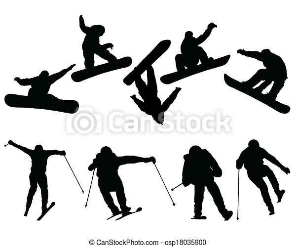 snowboard and ski jumpers - csp18035900
