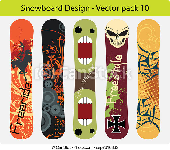snowboard design pack 10 - csp7616332