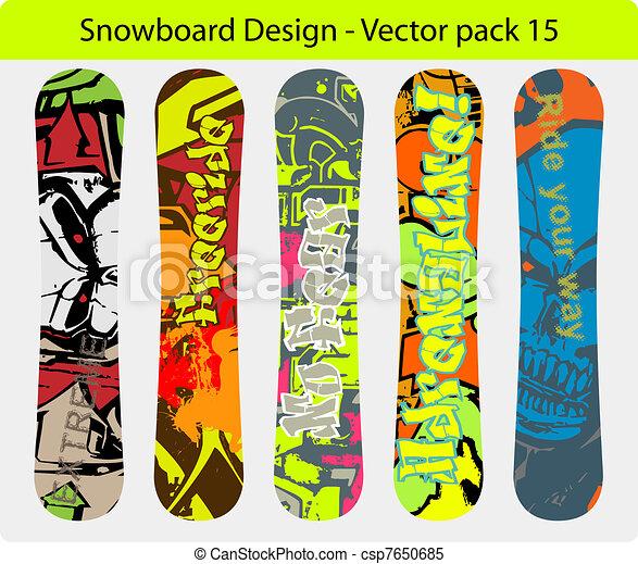 snowboard design pack 15 - csp7650685