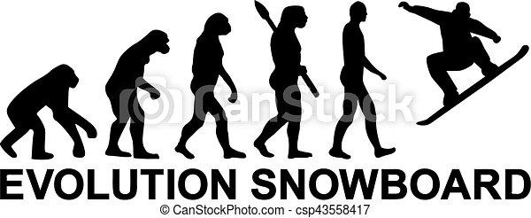 Evolución de snowboard - csp43558417
