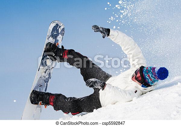 Snowboard fällt extrem - csp5592847