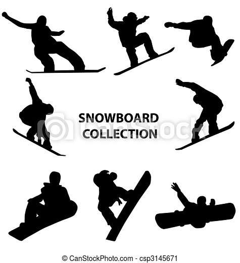 snowboard silhouettes collection - csp3145671