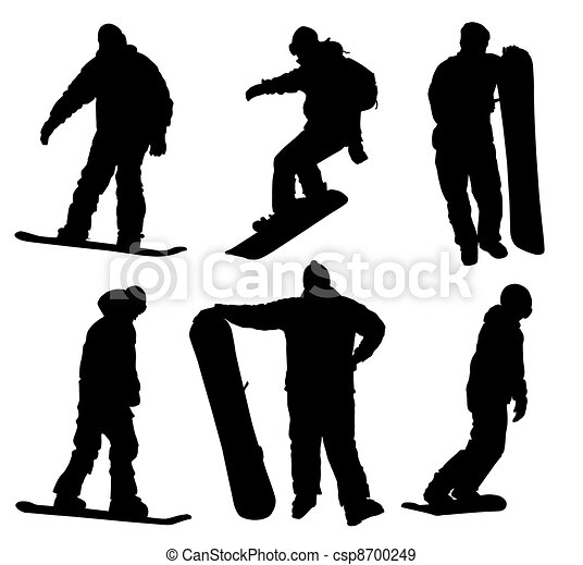 Snowboard silhouettes set   - csp8700249