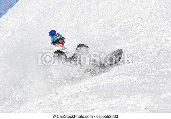 snowboard, sport, extrem - csp5592883