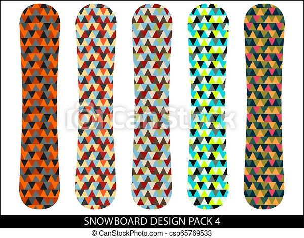 snowboard, vettore, progetta, pacco - csp65769533