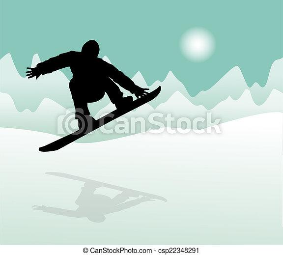 Snowboarder - csp22348291