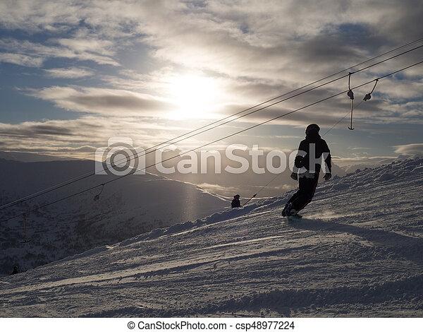 Snowboarder in Norway - csp48977224