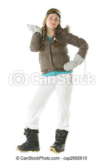 Snowboarder woman - csp2692610