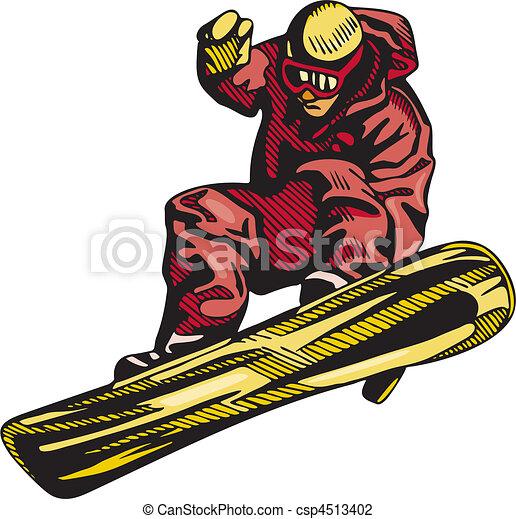 snowboarding, スキー, & - csp4513402