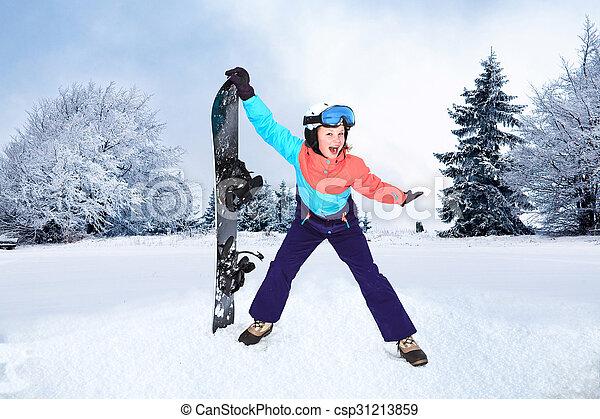 snowboarding - csp31213859