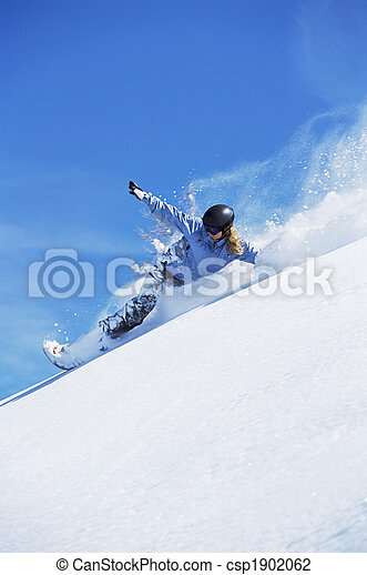snowboarding, 女, 若い - csp1902062