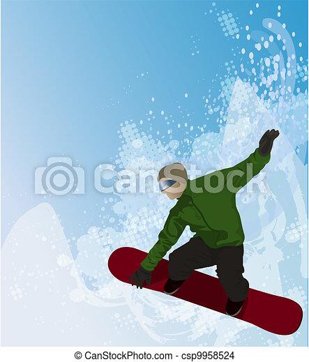 snowboarding - csp9958524