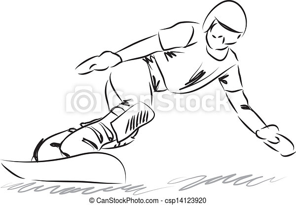 snowboarding illustration - csp14123920