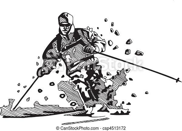 snowboarding, ski, & - csp4513172