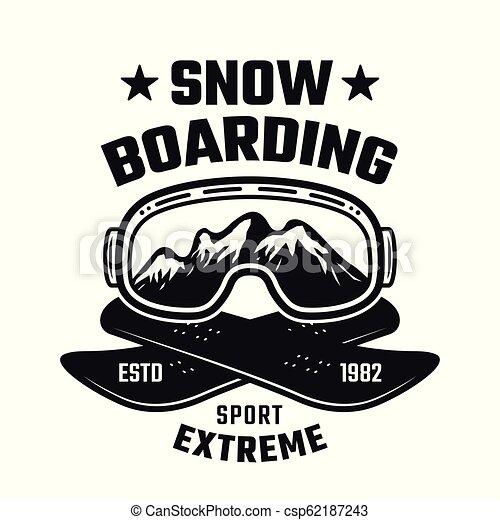 Snowboarding winter extreme sport vector emblem - csp62187243