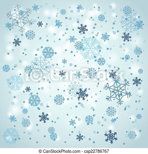 Snowfall in winter. Abstract background - csp22786767
