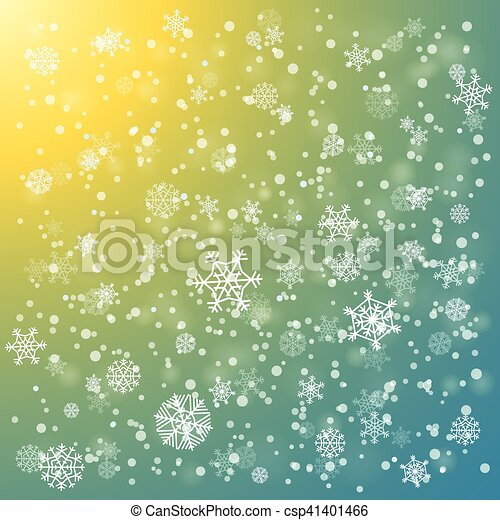Snowfall in winter abstract background - csp41401466
