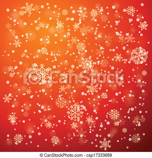 Snowfall in winter abstract background - csp17333689