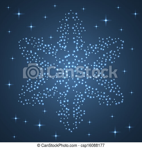 snowflake., étoile brillante - csp16088177
