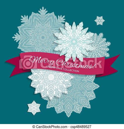 Snowflake background - csp48489527