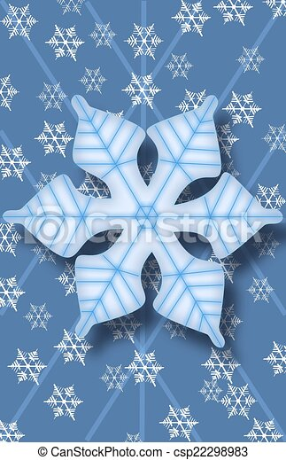 Snowflake Background - csp22298983