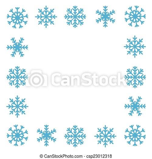 Snowflake border - csp23012318
