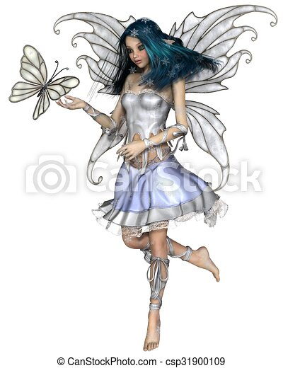Snowflake Butterfly Fairy - csp31900109